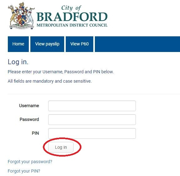 bradford council payslip