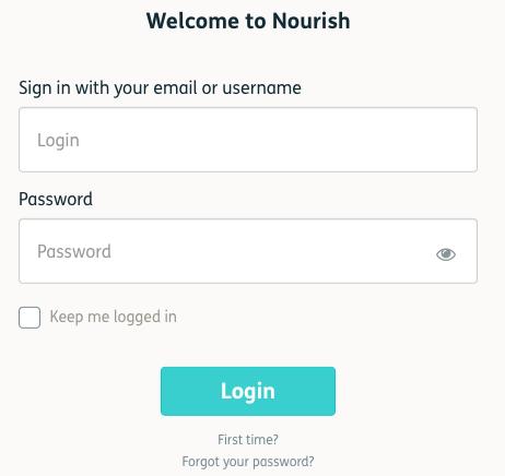 Nourish Login