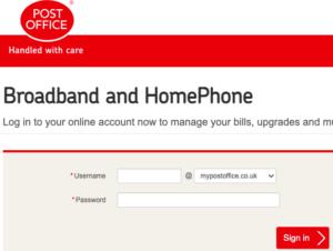 Post office Broadband Login