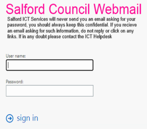 salford webmail login