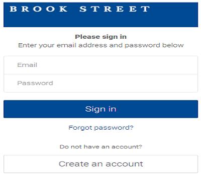 brook street online login